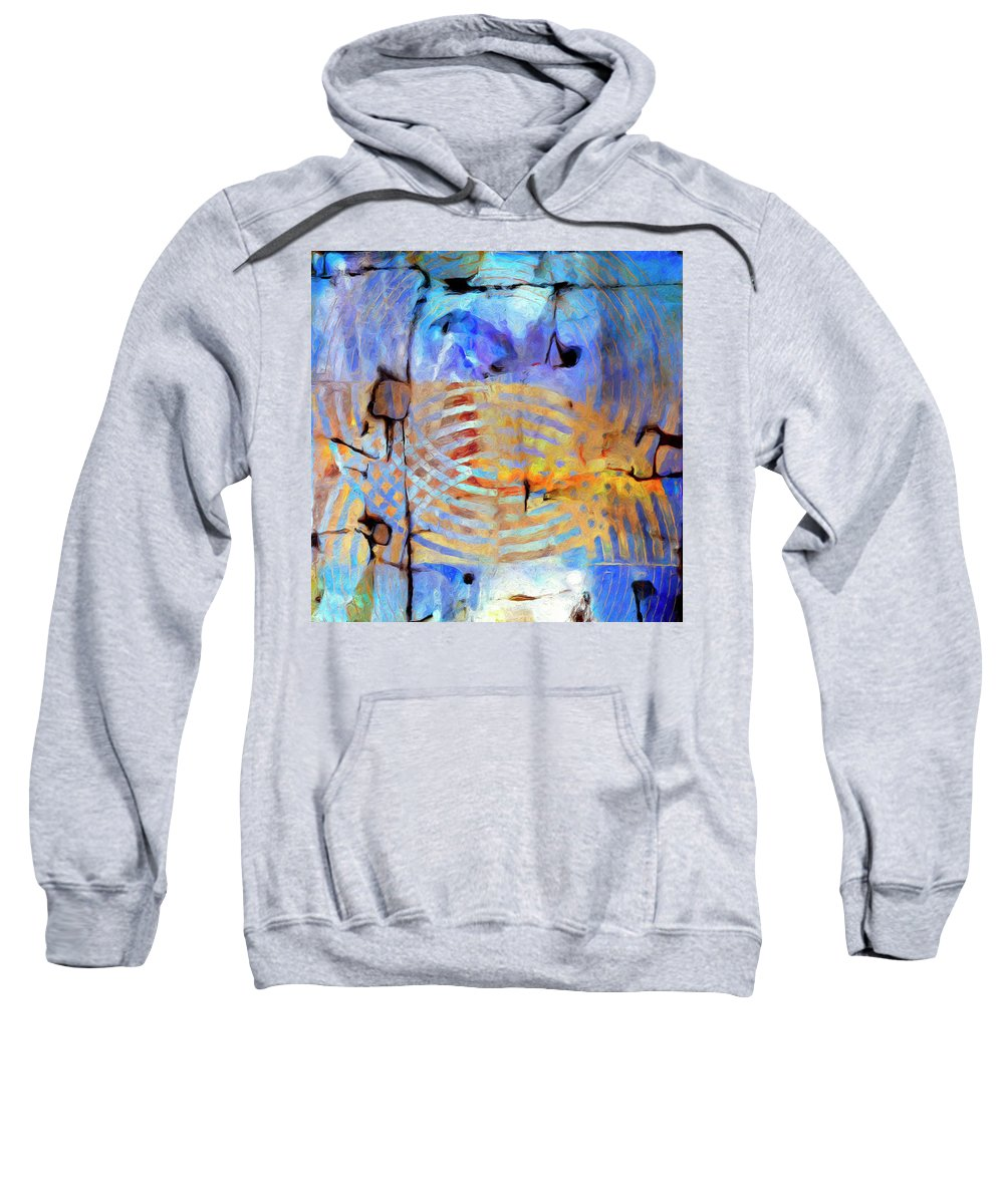 Abstract Sweatshirt featuring the painting Singularity by Dominic Piperata