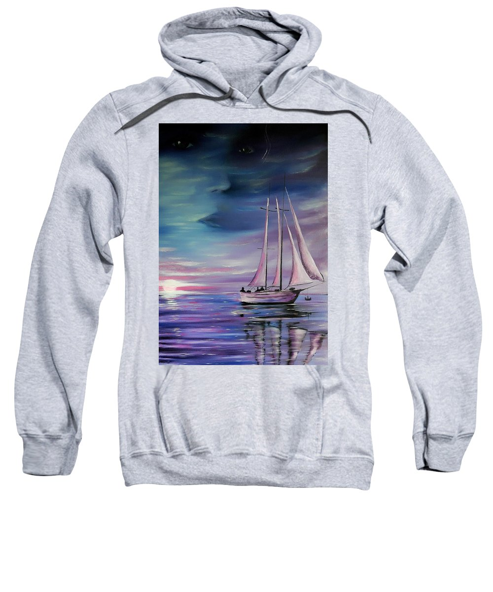 Sweatshirt featuring the painting Sirens Song by Joel Cafiero