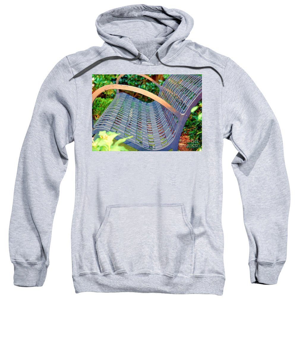Bench Sweatshirt featuring the photograph Sitting On A Park Bench by Debbi Granruth