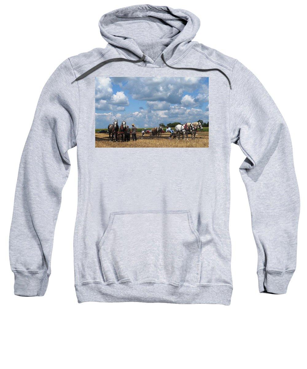 Horse Sweatshirt featuring the photograph Six Horses by Ian MacDonald