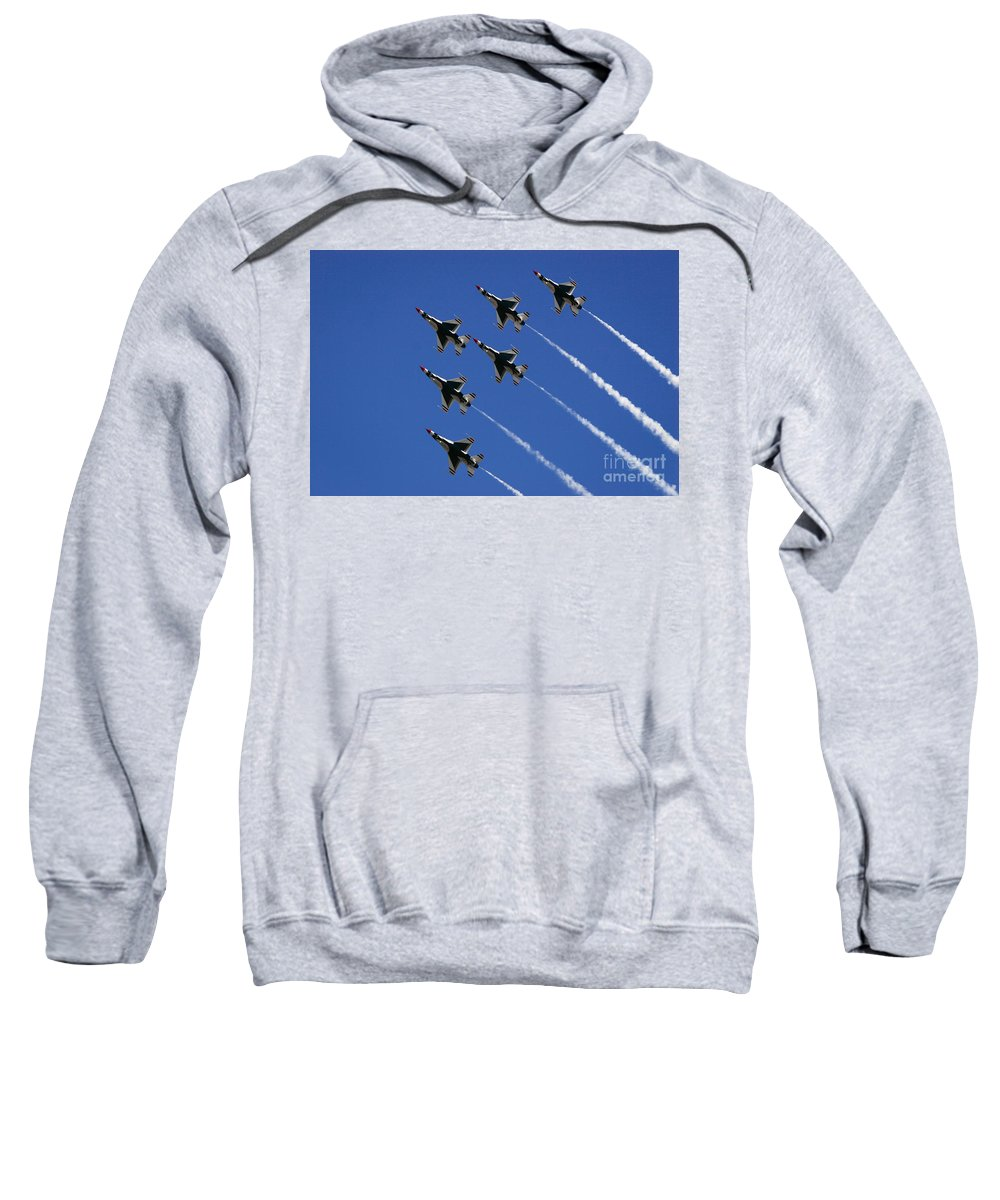 Air Force Sweatshirt featuring the photograph Six In Flight by Chandra Nyleen