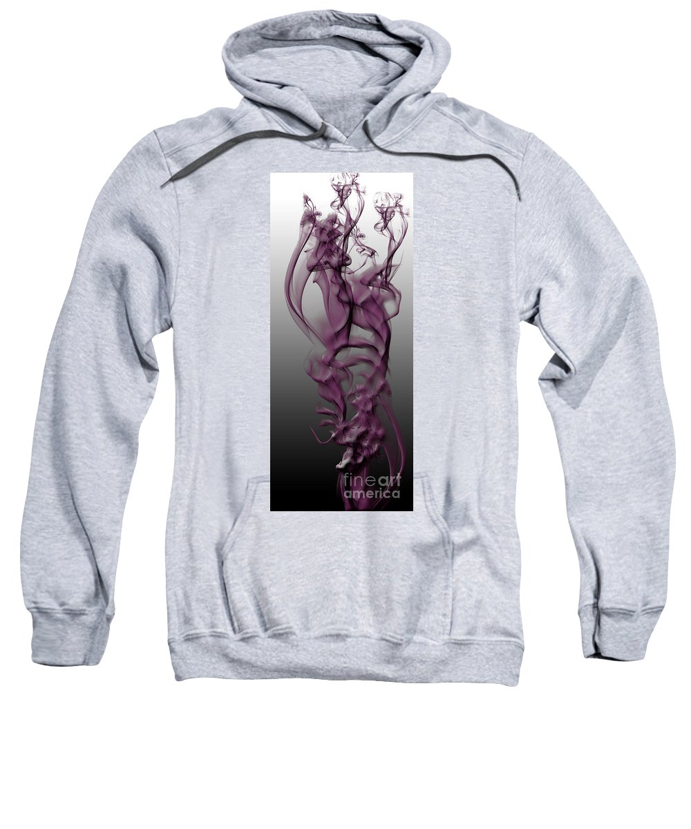 Clay Sweatshirt featuring the digital art Skeletal Flow by Clayton Bruster