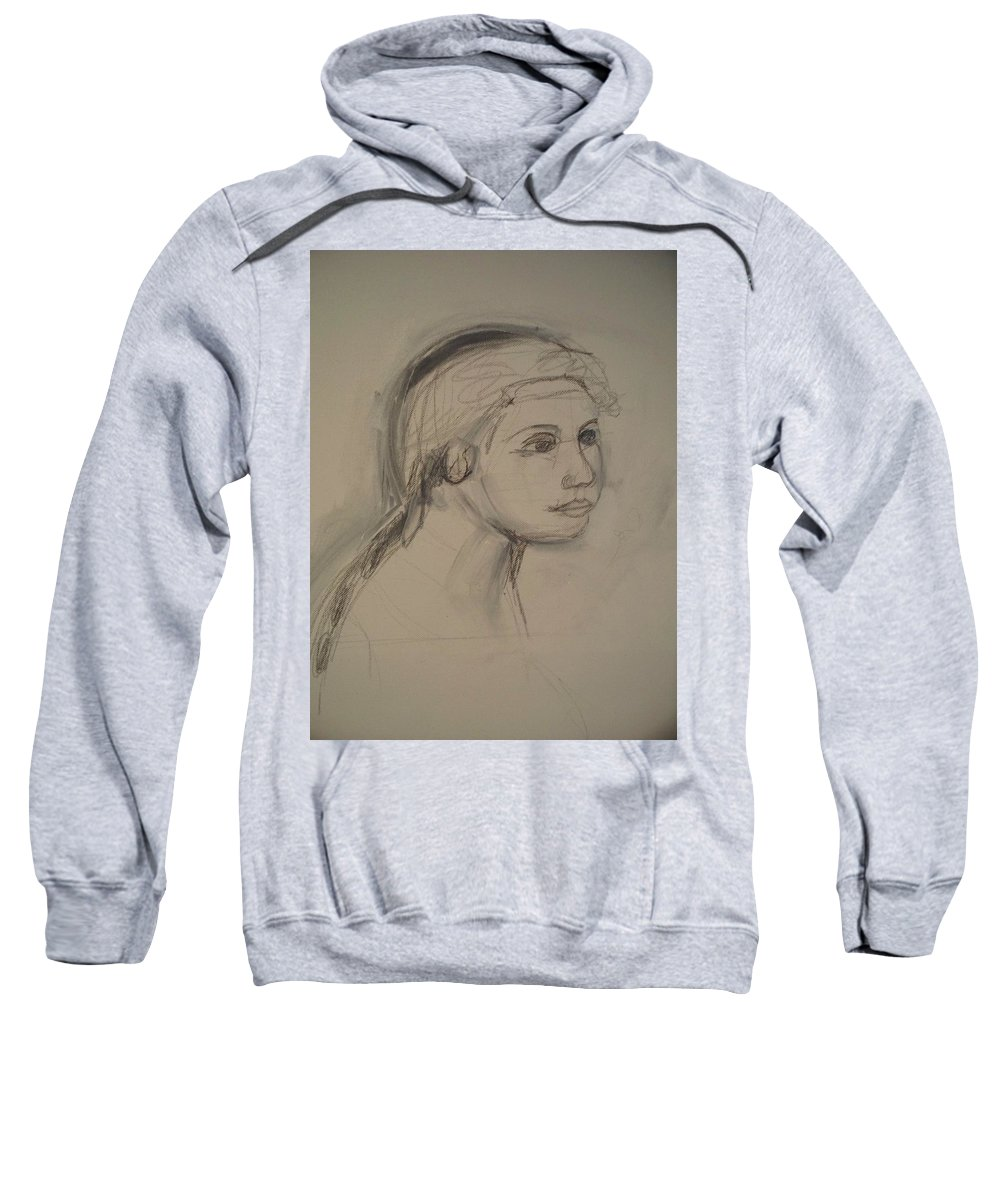 Sketch Sweatshirt featuring the painting Sketch For Painting by Eric Schiabor