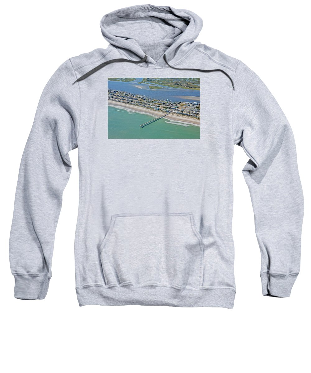 Topsail Sweatshirt featuring the photograph Skinny Paradise by Betsy Knapp