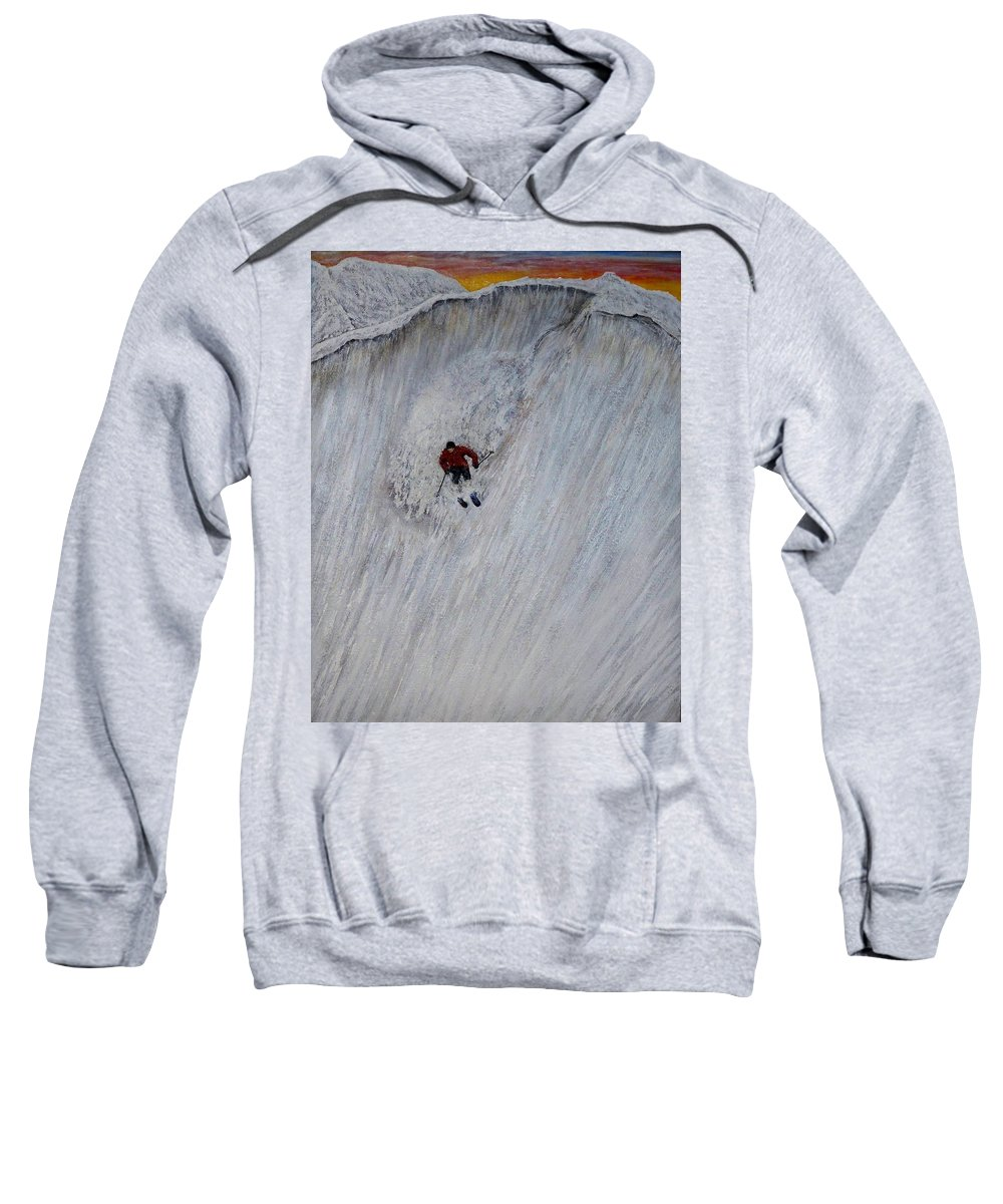 Landscape Sweatshirt featuring the painting Skitilthend by Michael Cuozzo