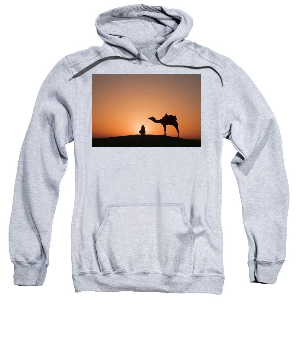Halo Sweatshirt featuring the photograph Skn 0893 Halo Of Sunrise by Sunil Kapadia
