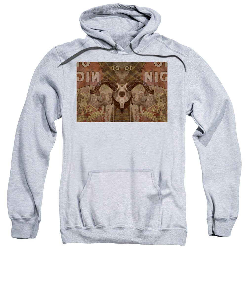 Photo Sweatshirt featuring the photograph Skull Disproportion by Susan Jacob