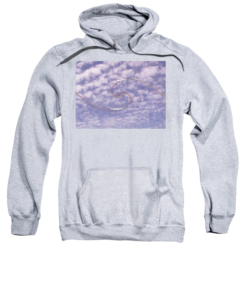Sail Sweatshirt featuring the photograph Sky High Sail Surfin by Tim Allen
