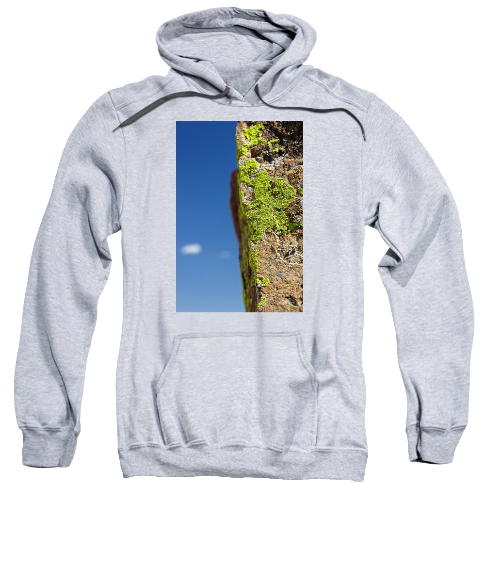 Sweatshirt featuring the photograph Sky Lichen by Eric Rosenwald
