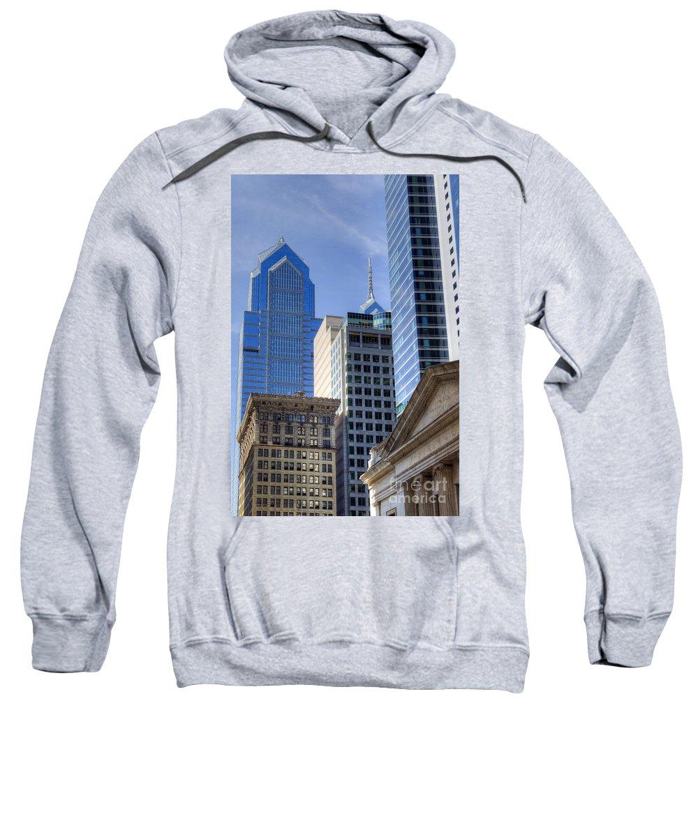 Skyscraper Sweatshirt featuring the photograph Skyscraper City Center Liberty Place by David Zanzinger