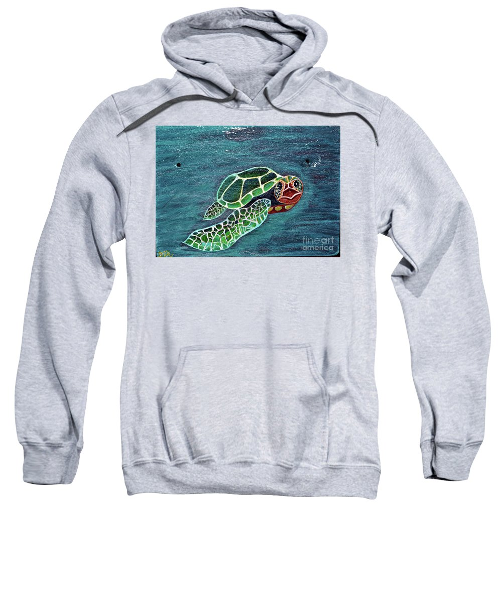 Slate Sweatshirt featuring the painting Slate Painting by Davids Digits