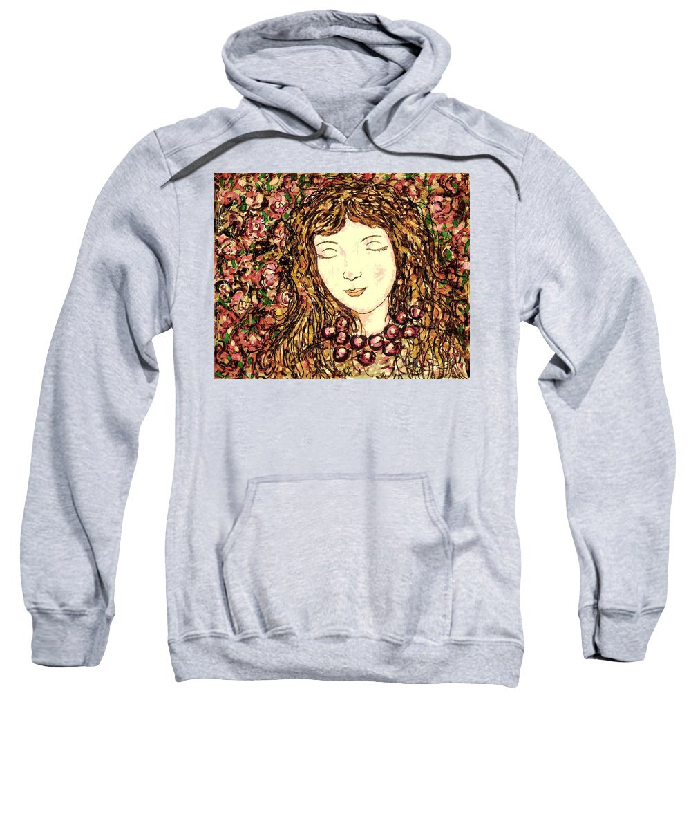Sleeping Beauty Sweatshirt featuring the painting Sleeping Beauty by Natalie Holland