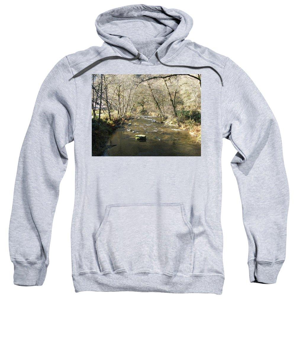River Sweatshirt featuring the photograph Sleepy Creek by Shari Chavira