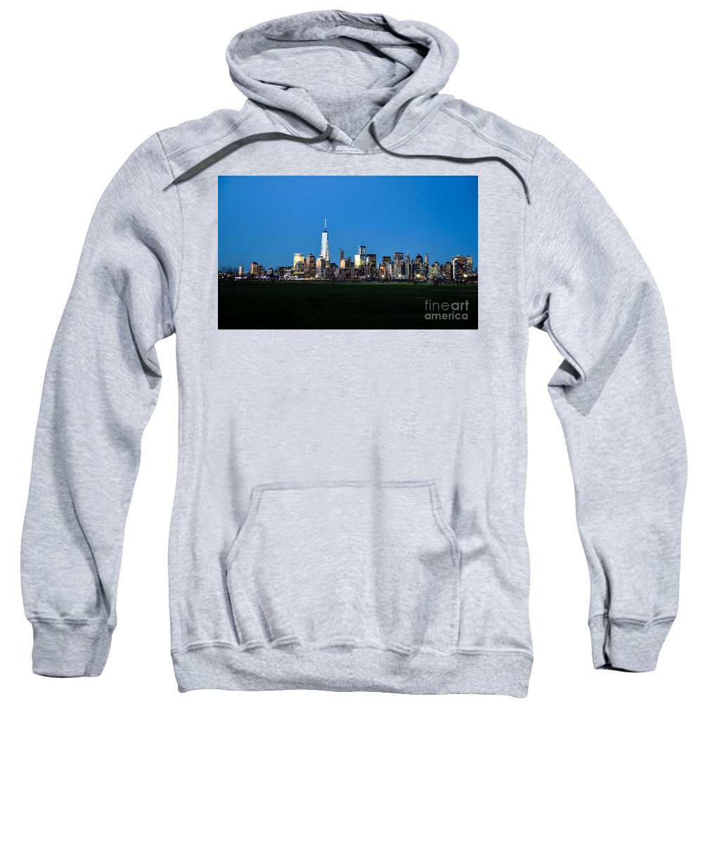 Nyc Sweatshirt featuring the photograph Sleepy New York City by PatriZio M Busnel