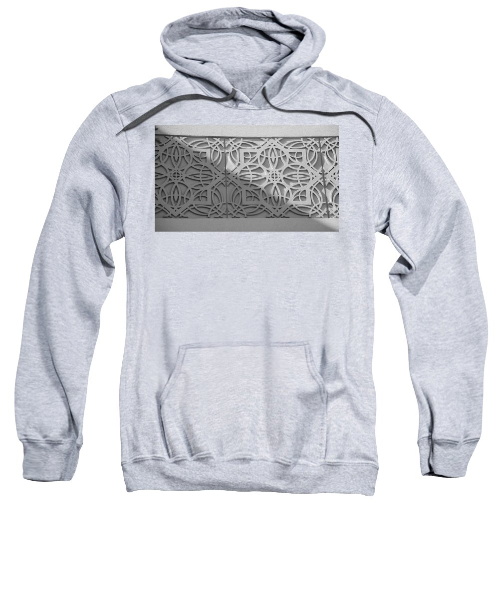 Black And White Sweatshirt featuring the photograph Sliced by Rob Hans
