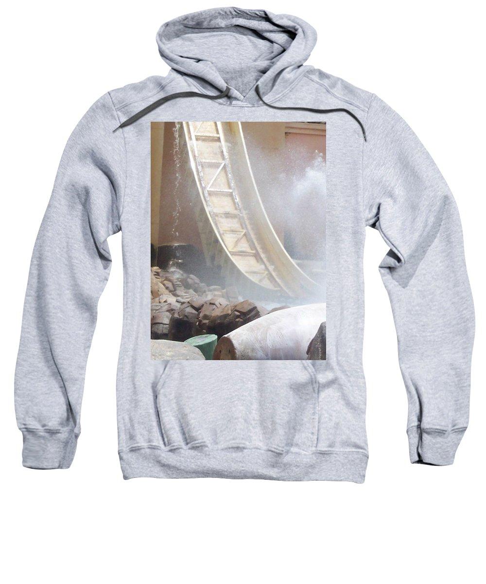 Slide Sweatshirt featuring the photograph Slide Splash by Pharris Art