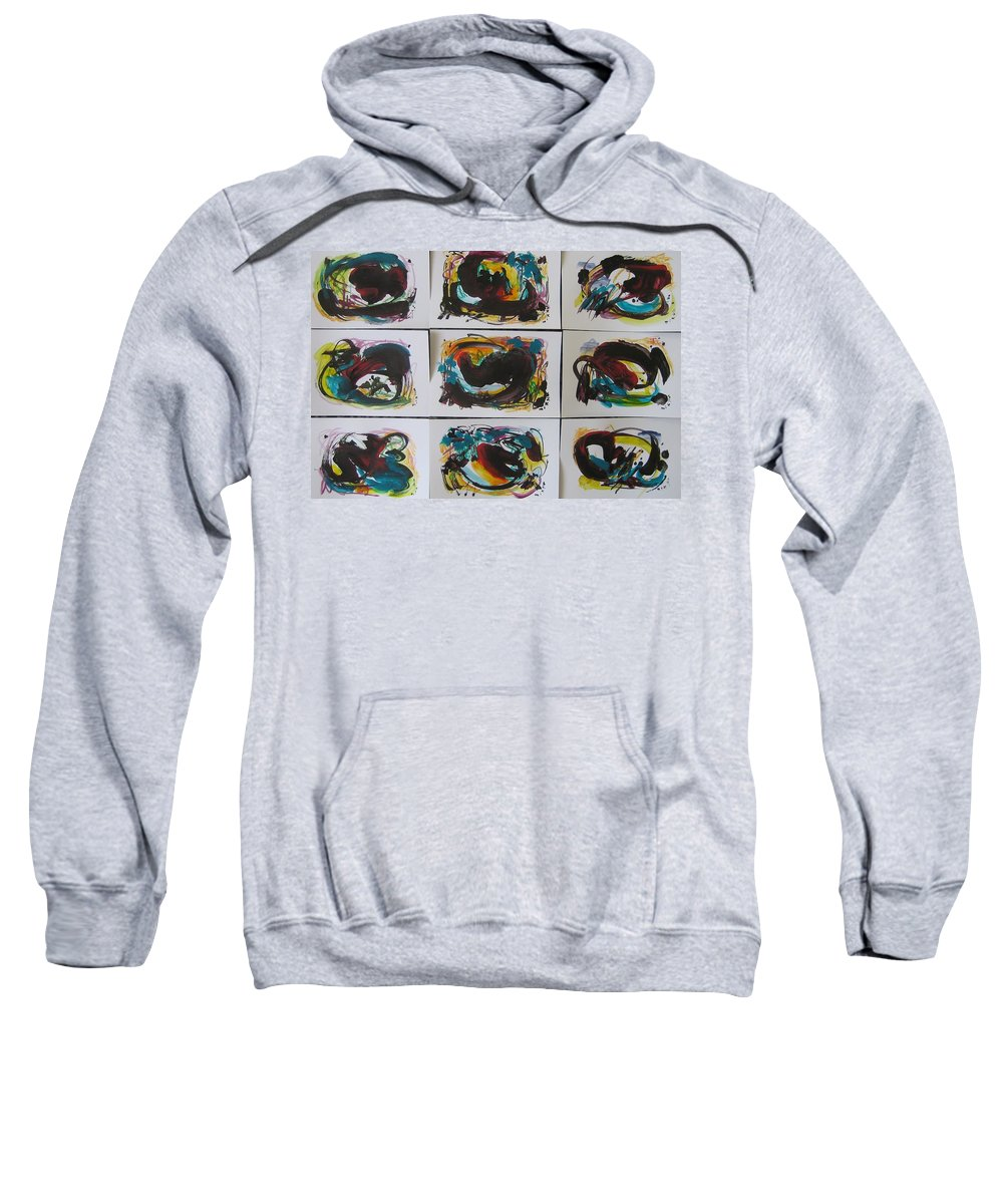 Original Sweatshirt featuring the painting Small Landscape5 by Seon-Jeong Kim