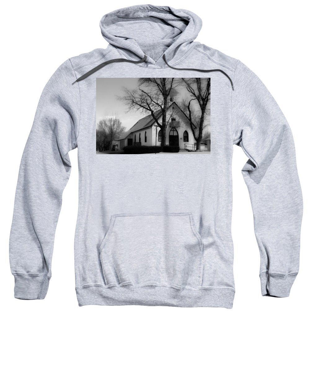 Church Sweatshirt featuring the photograph Small Town Church by James BO Insogna