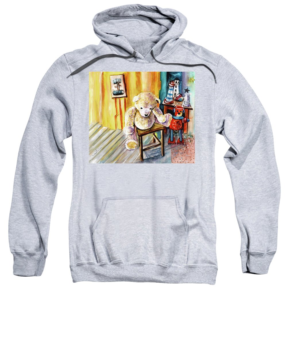 Truffle Mcfurry Sweatshirt featuring the painting Smogenbear by Miki De Goodaboom