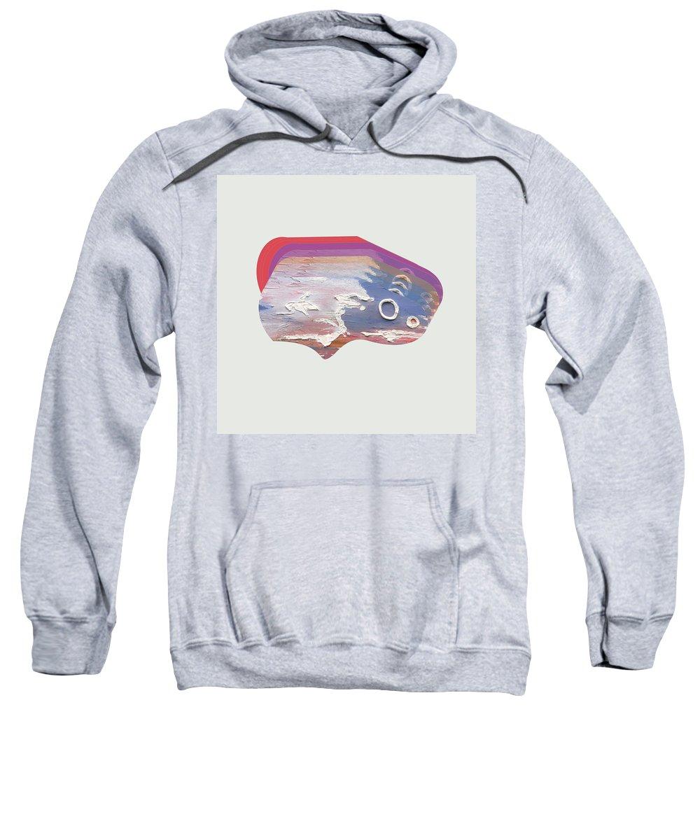 Digital Art Sweatshirt featuring the digital art Smoke Signals by Johan Calitz