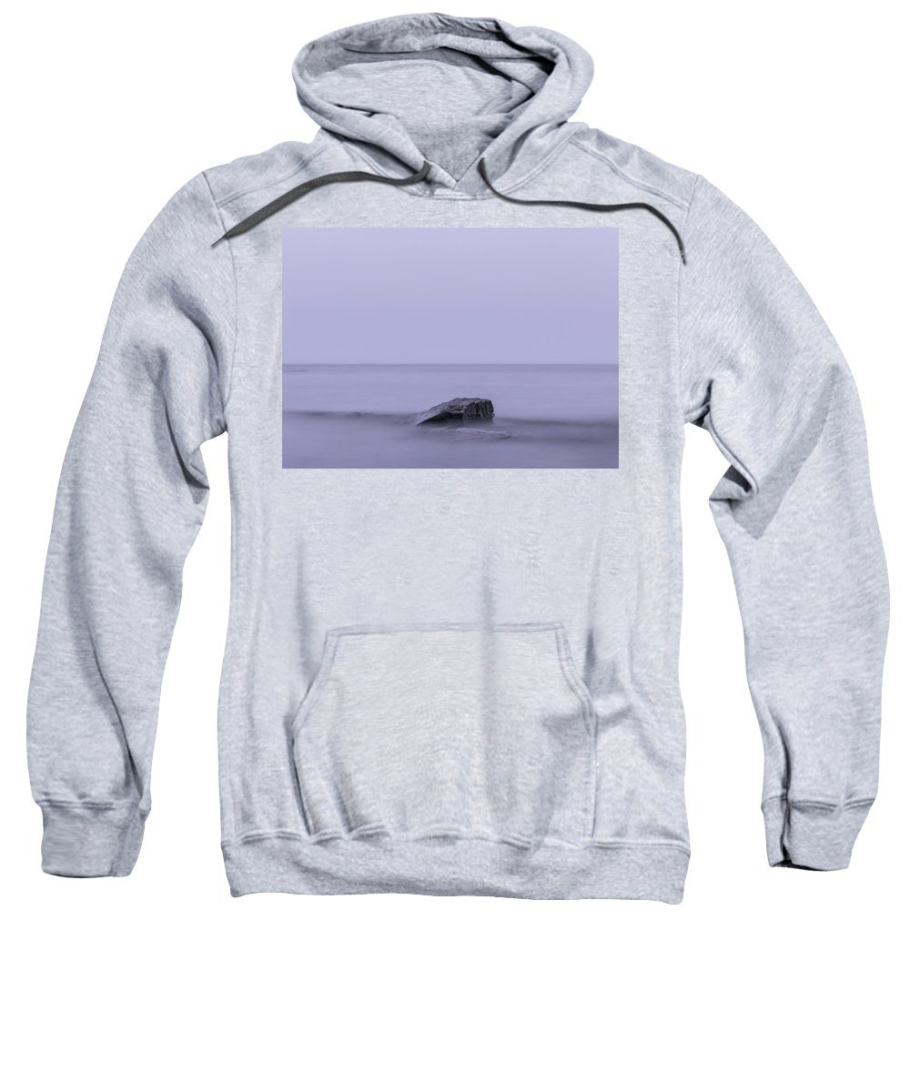 Smooth Water Sweatshirt featuring the photograph Smooth Water Before Dark by Andreas Hoff