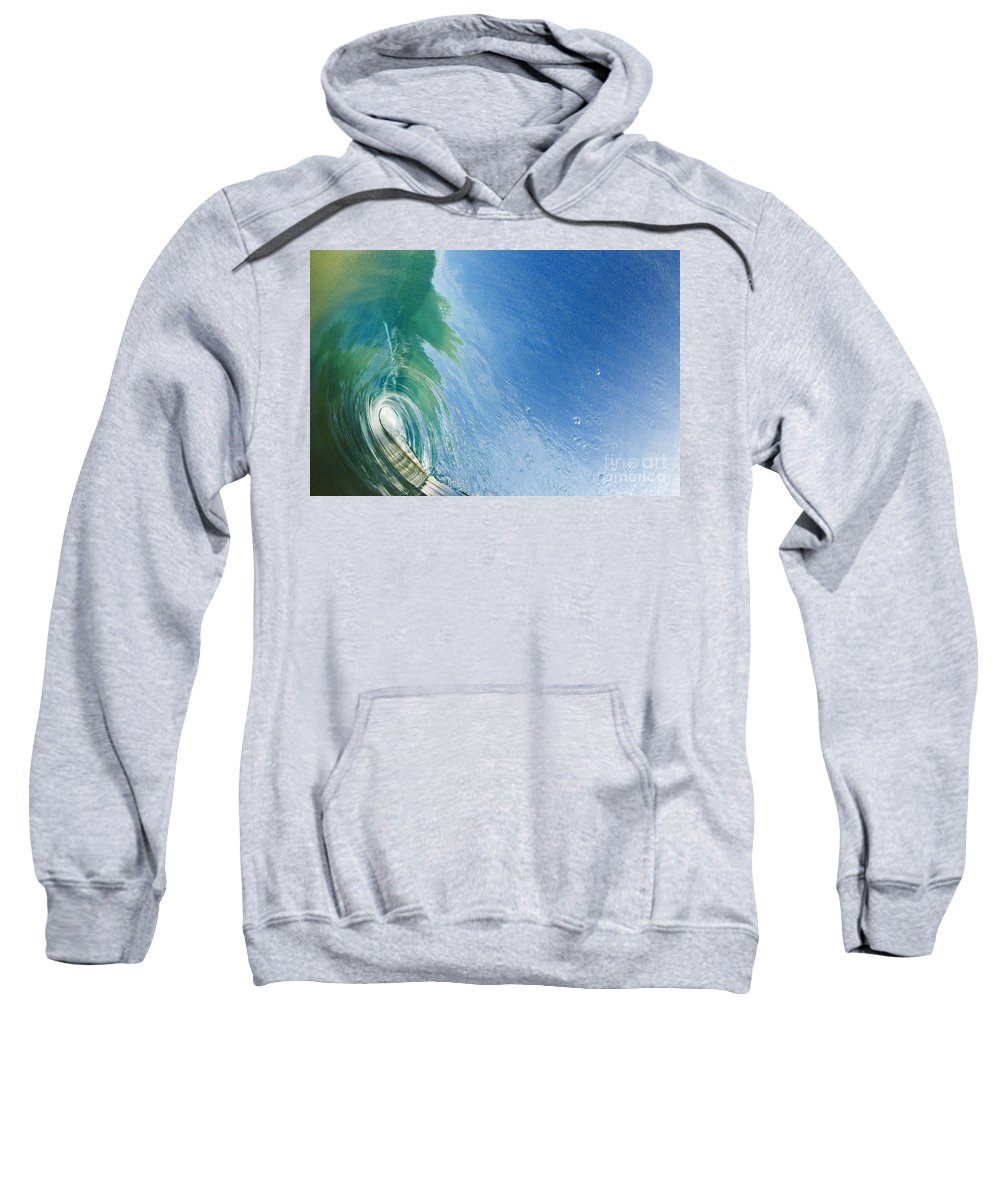 Amazing Sweatshirt featuring the photograph Smooth Wave Tube by MakenaStockMedia - Printscapes