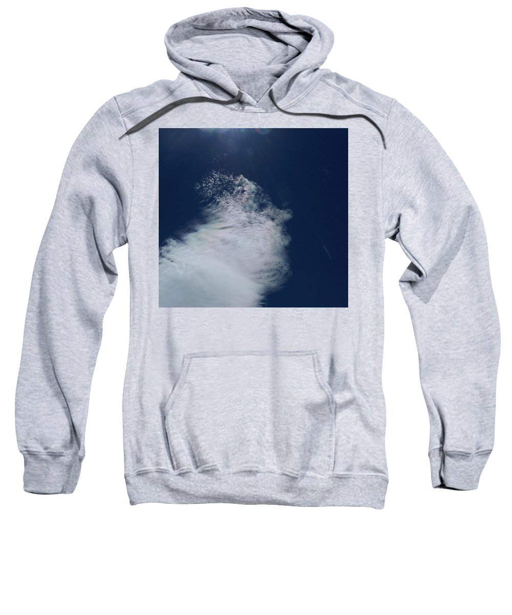 Strange Clouds Sweatshirt featuring the photograph Sneezing Drones by Kit Kay