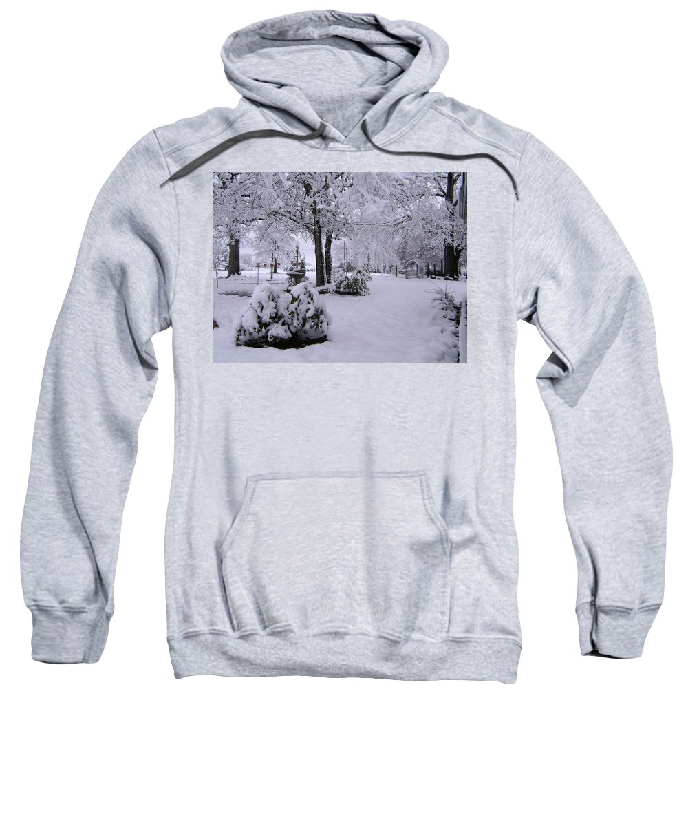 Landscape Sweatshirt featuring the photograph Snow Bush by Deborah Reed