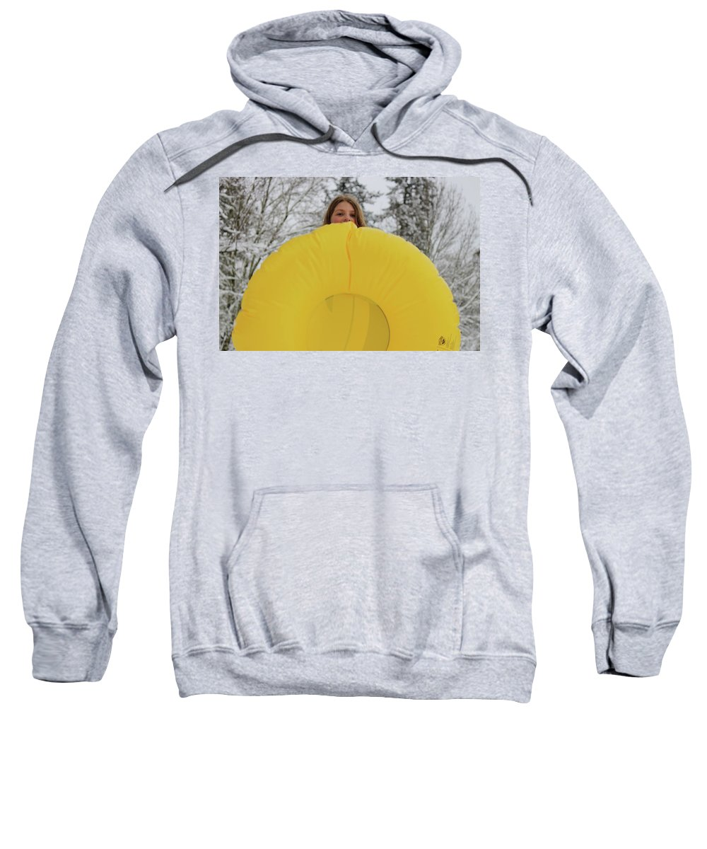 Snow Sweatshirt featuring the photograph Snow Day by Images By Paige