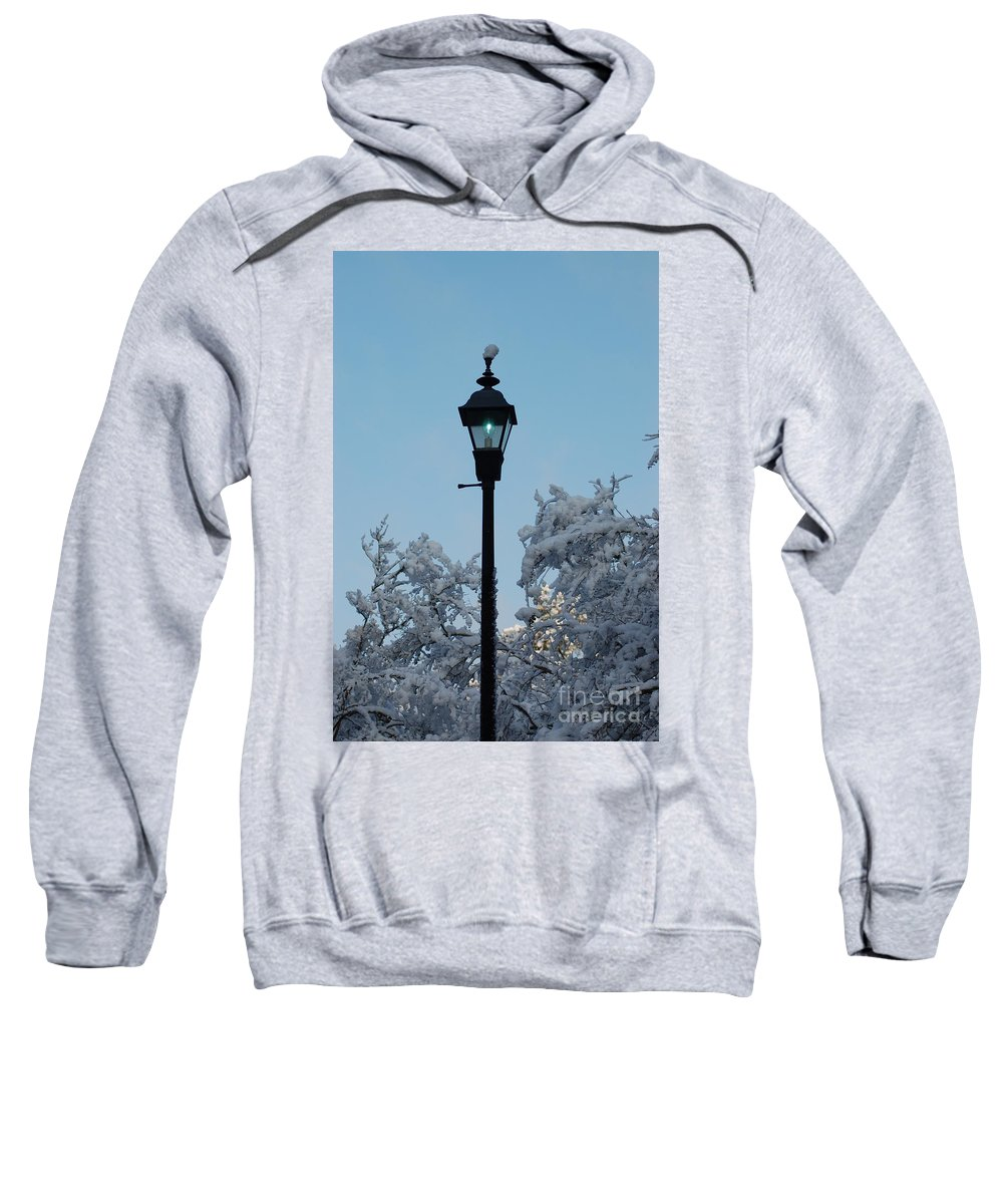 Snow Sweatshirt featuring the photograph Snow In The Low-country by Donna Bentley