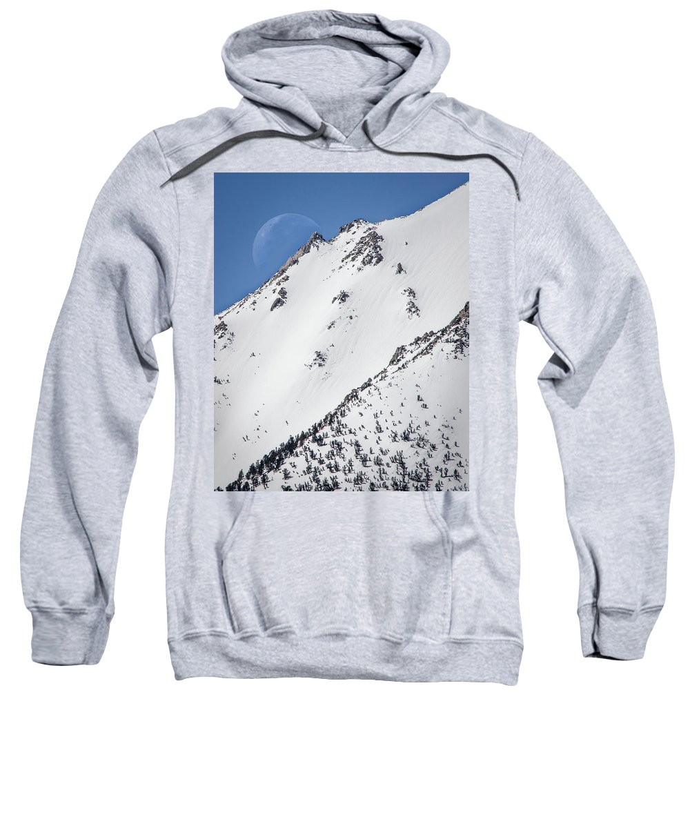 Alabama Hills Sweatshirt featuring the photograph Snow Moon by Travis Elder