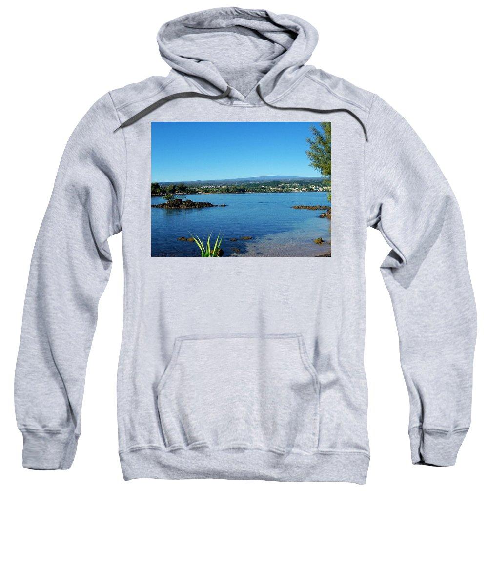 Hilo Bay Sweatshirt featuring the photograph Snow On Mauna Loa by Dina Holland