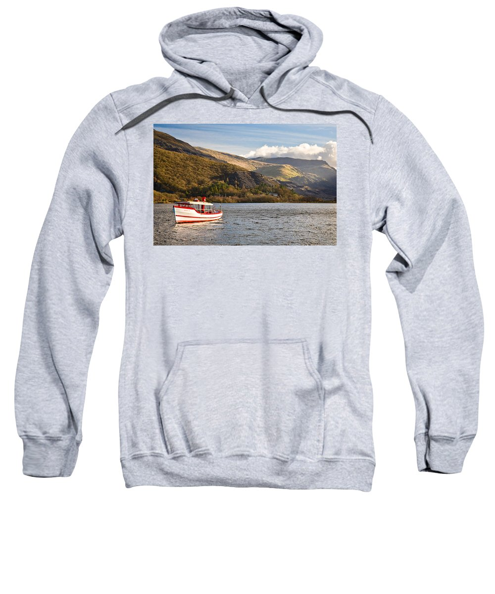 Snowdonia Sweatshirt featuring the photograph Snowdon Star by Dave Bowman