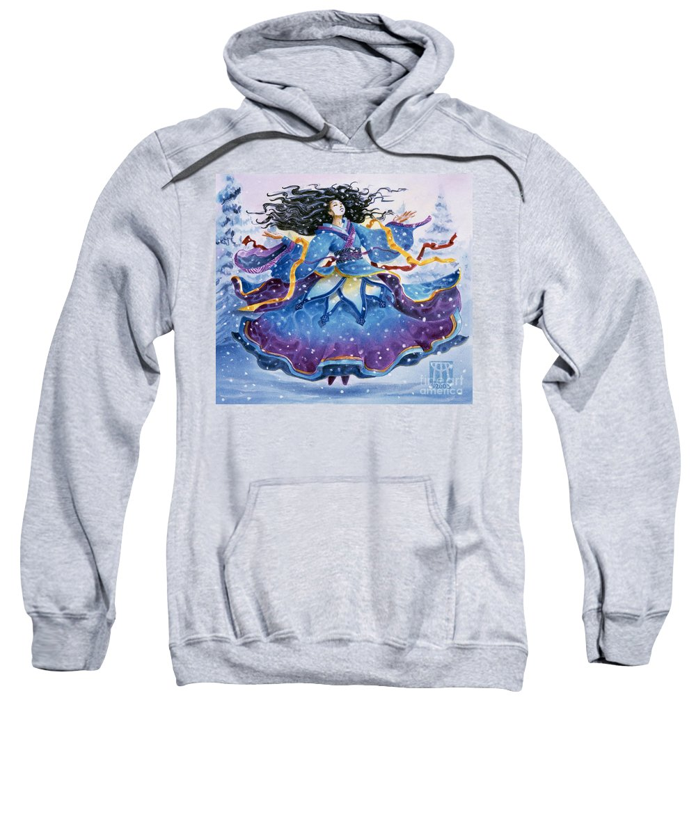 Snow Sweatshirt featuring the painting Snowfall by Melissa A Benson