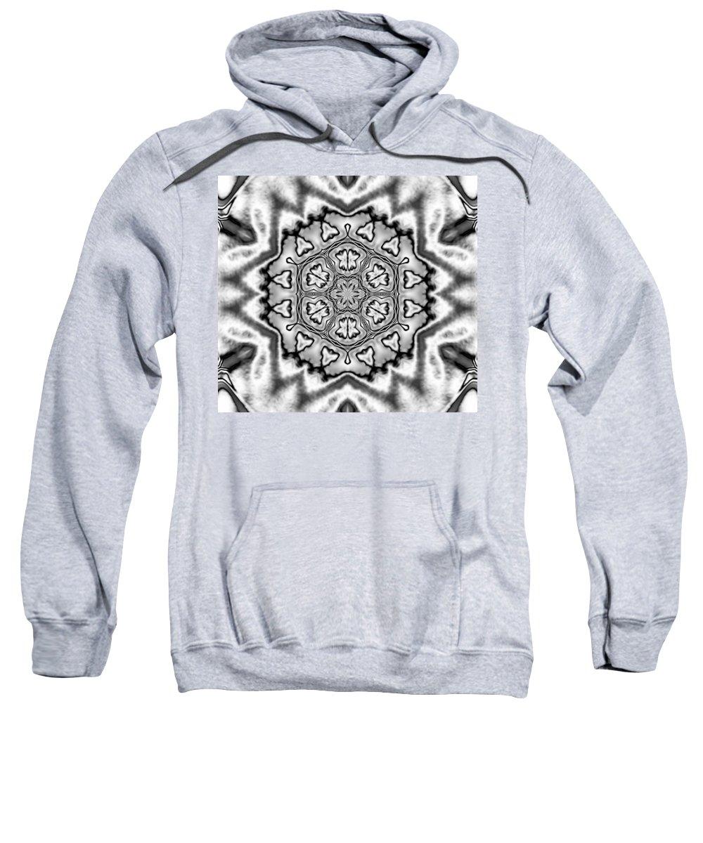 Digital Art Sweatshirt featuring the digital art Snowflake 7 by Belinda Cox
