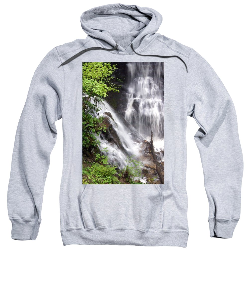 Soco Galls Sweatshirt featuring the photograph Soco Falls 2 by Marty Koch