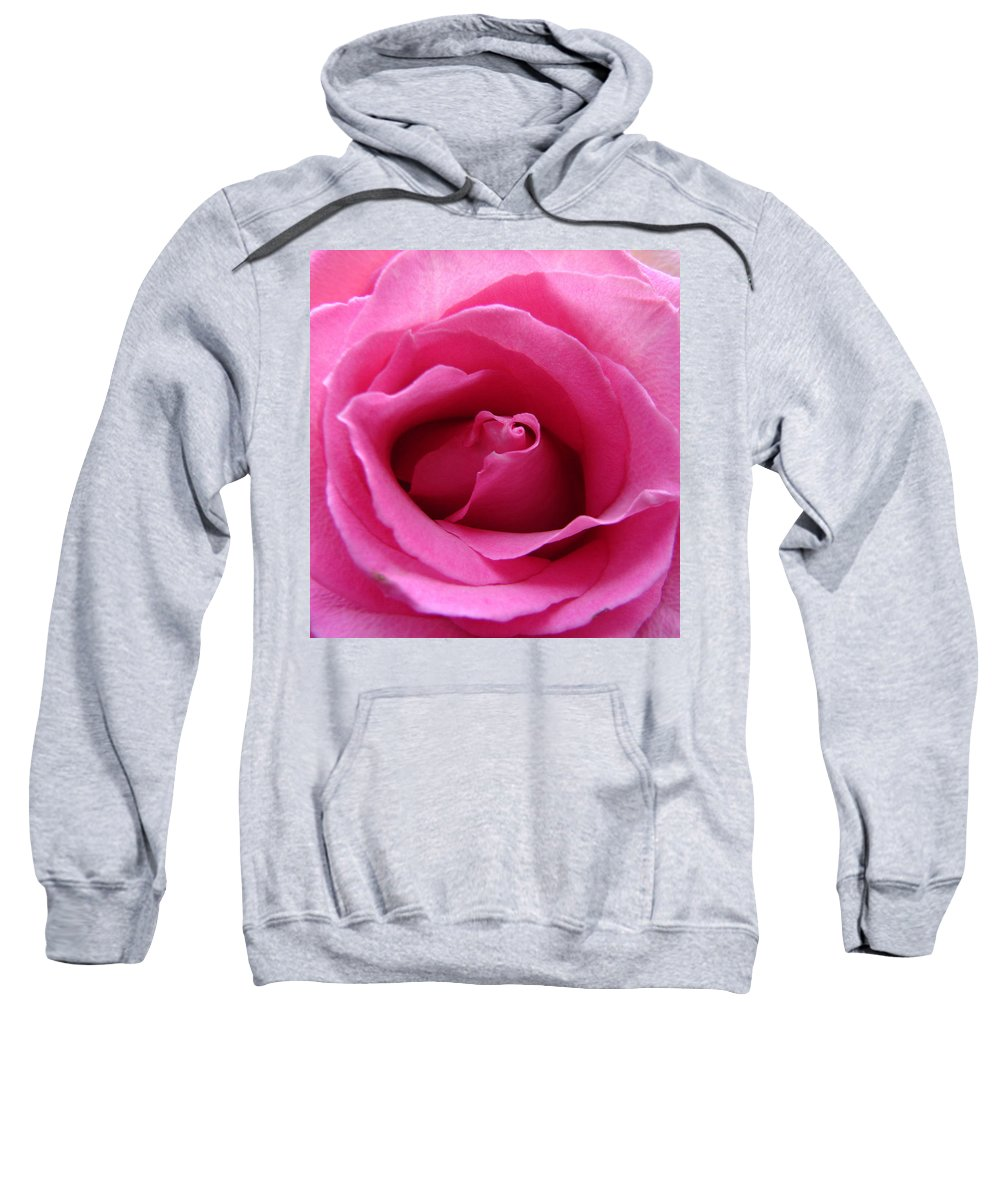 Rose Pink Pedals Sweatshirt featuring the photograph Soft And Pink by Luciana Seymour