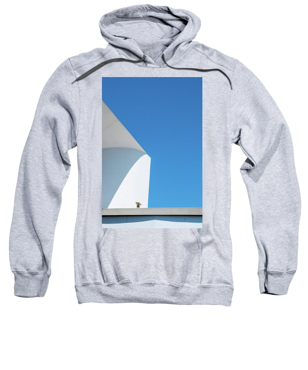 Abstract Sweatshirt featuring the photograph Soft Blue by Eric Lake