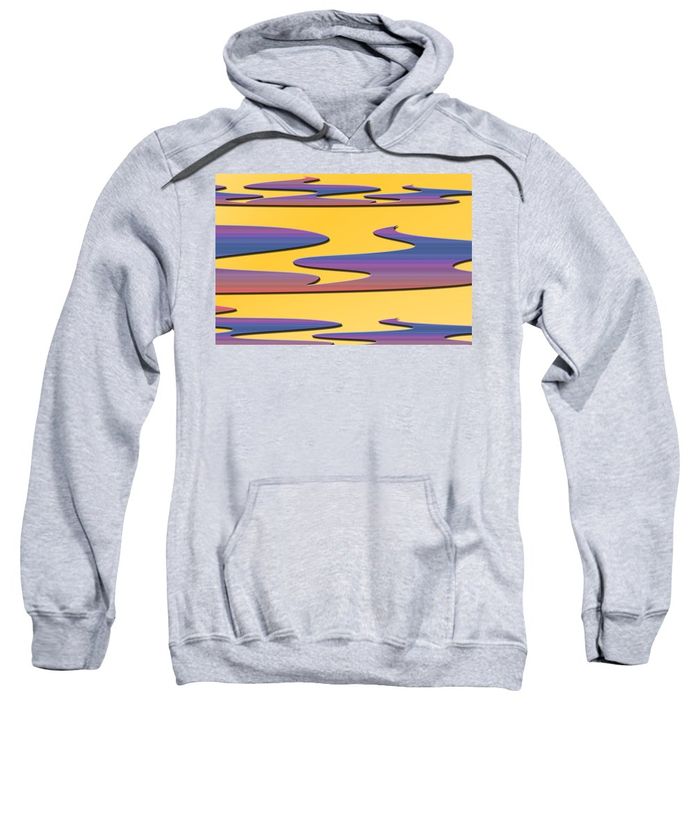 Abstract Sweatshirt featuring the digital art Soft Colors by Aimee L Maher ALM GALLERY