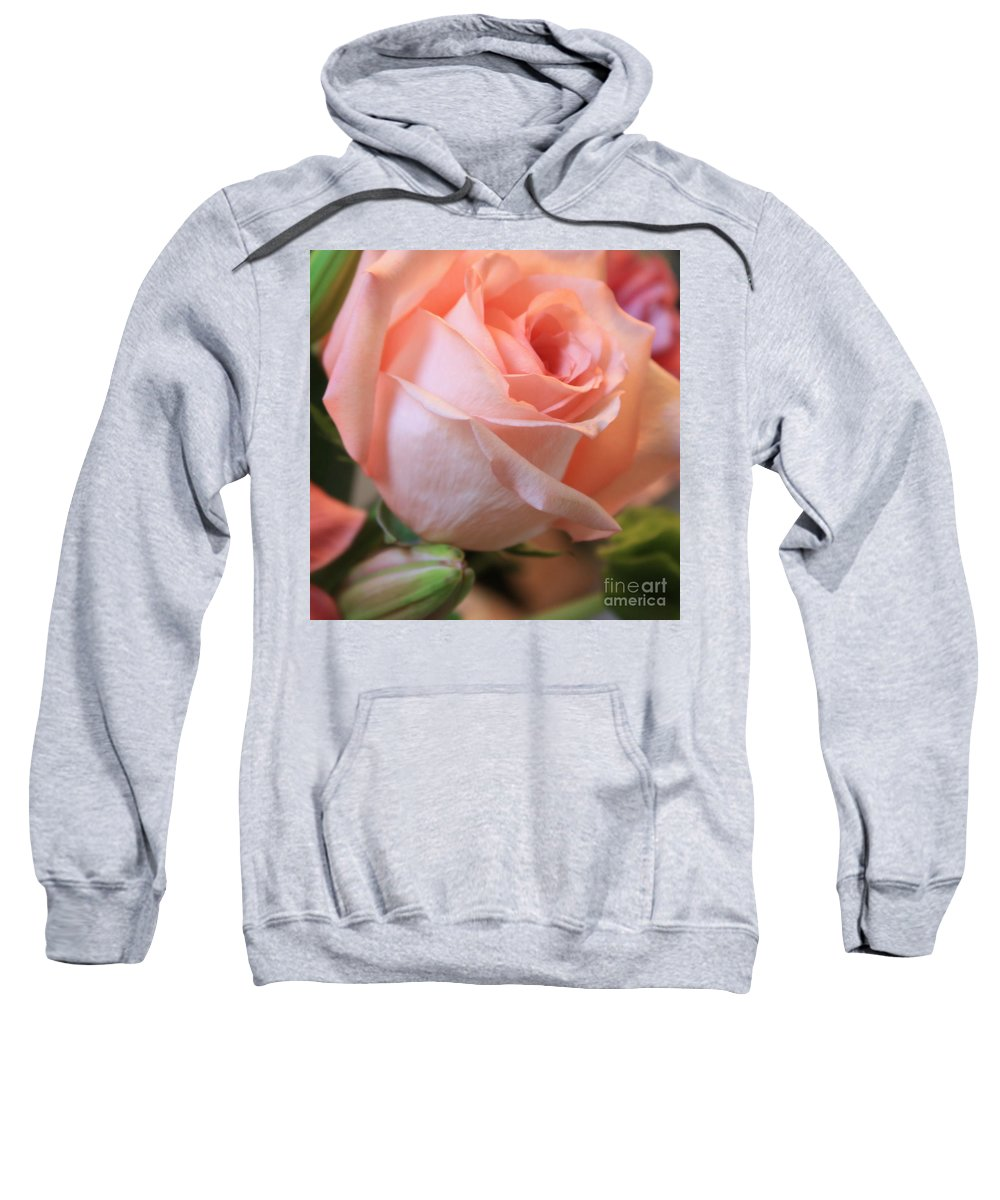 Pink Rose Sweatshirt featuring the photograph Soft Pink Rose by Carol Groenen