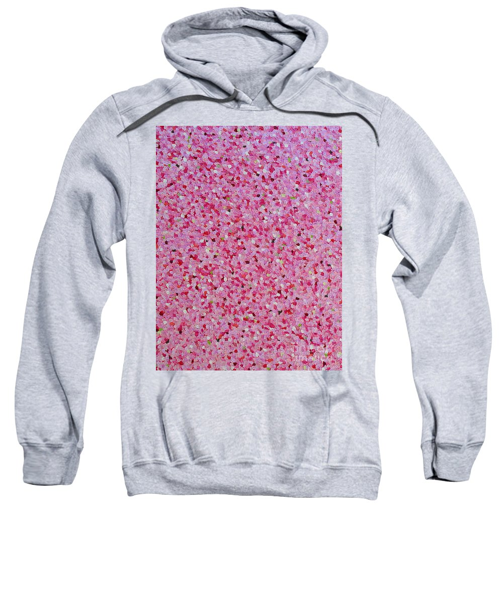 Abstract Sweatshirt featuring the painting Soft Red Light by Dean Triolo