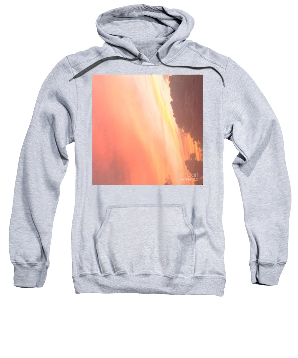 Peachy Sweatshirt featuring the photograph Soft Sunset by Marcelline M Alexander