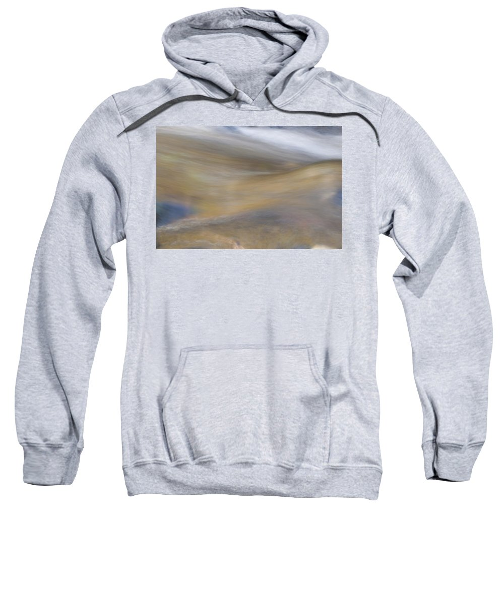 Abstract Sweatshirt featuring the photograph Soft Water by Maria Coulson