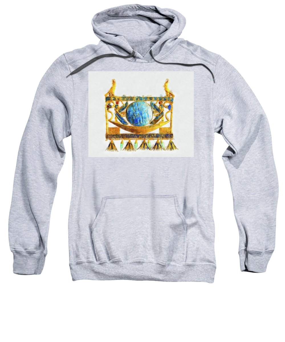 Solar Sweatshirt featuring the painting Solar Barque By Pierre Blanchard by Esoterica Art Agency
