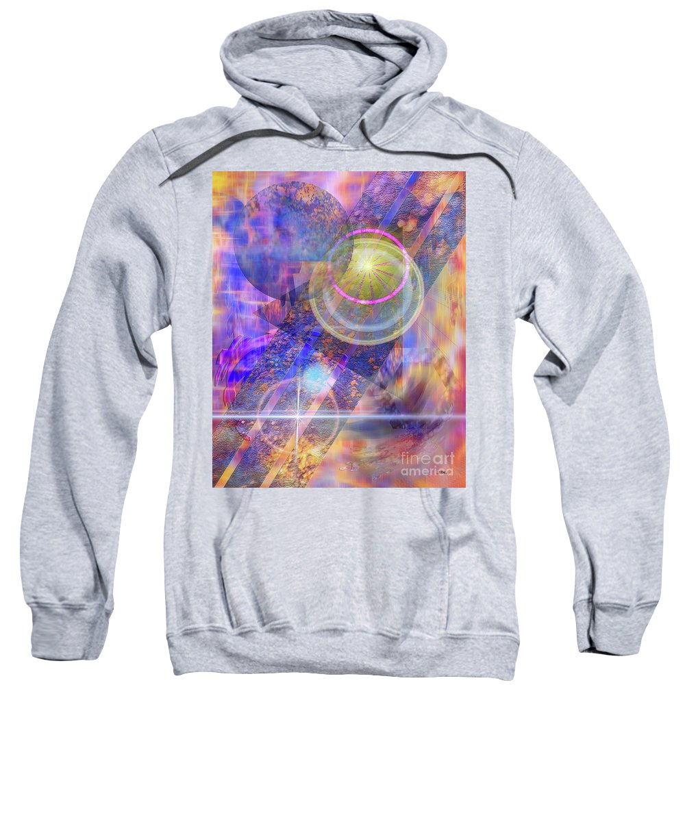 Solar Progression Sweatshirt featuring the digital art Solar Progression by John Beck