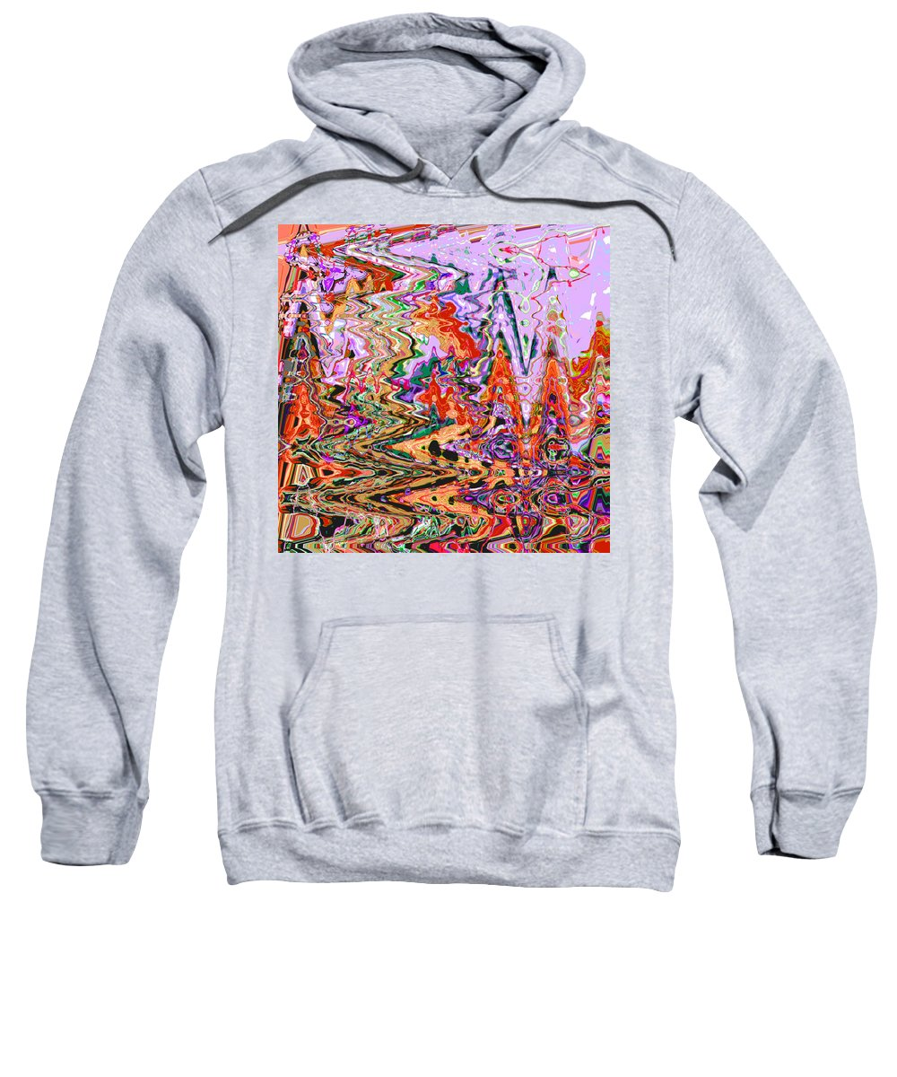 Abstract Sweatshirt featuring the digital art Soldier Presides Over Massacre by Lenore Senior