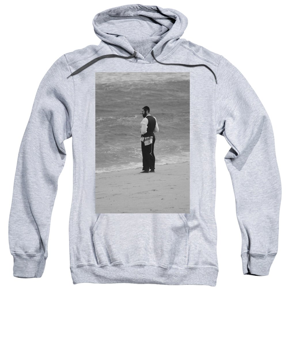 Black And White Sweatshirt featuring the photograph Solice by Rob Hans