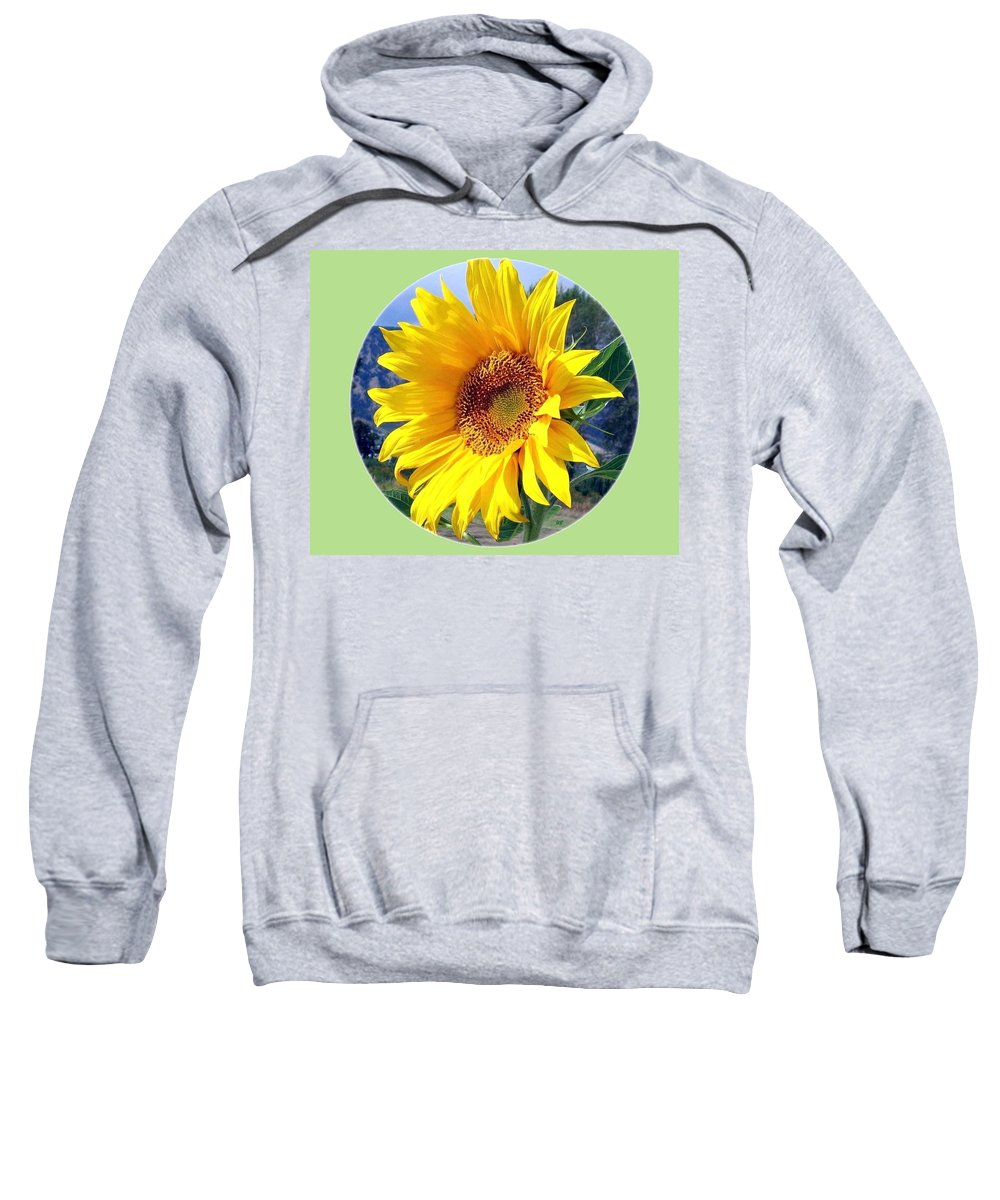 Sunflower Sweatshirt featuring the photograph Solid Sunshine by Will Borden