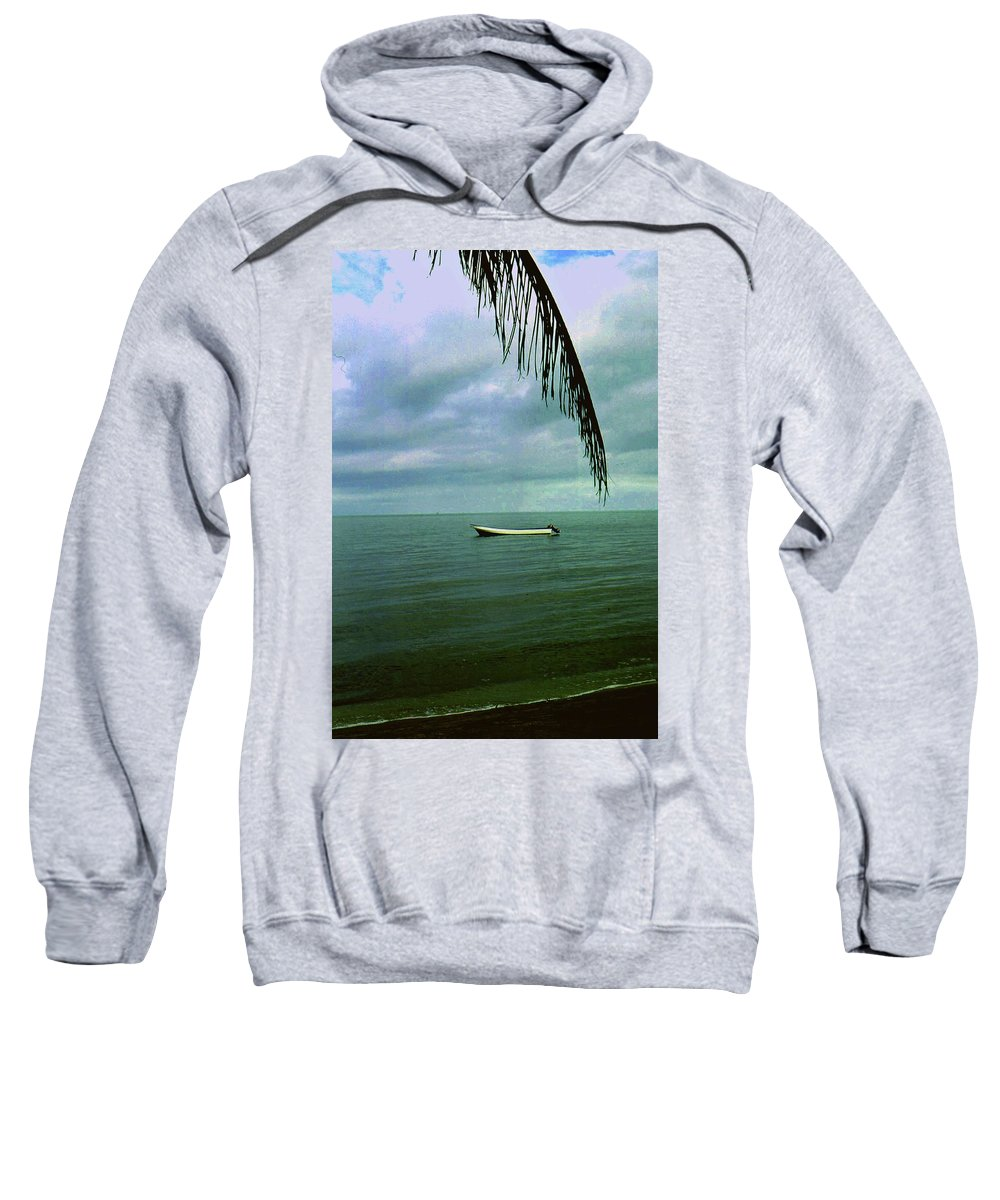 Boat Sweatshirt featuring the photograph Solitude by Gary Wonning