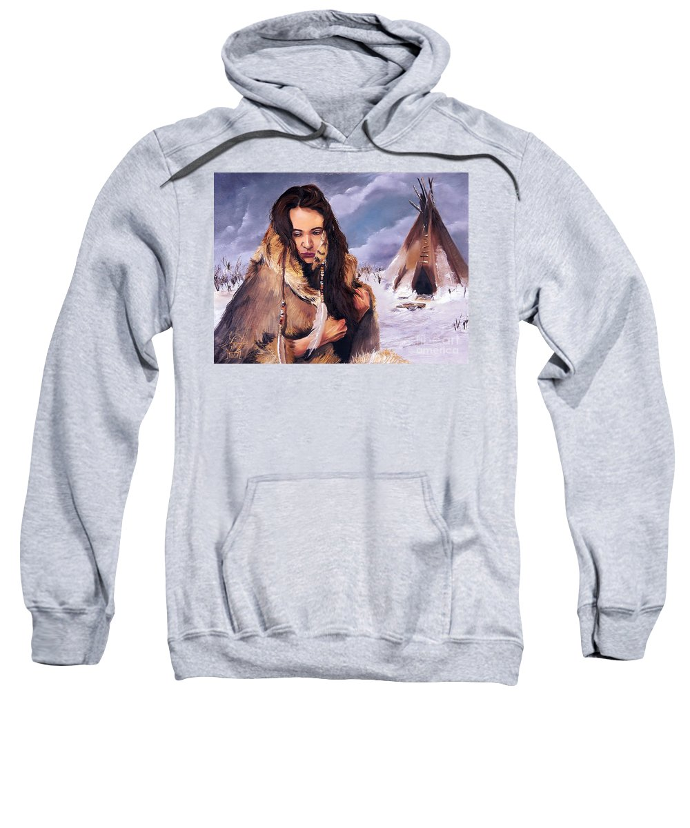 Southwest Art Sweatshirt featuring the painting Solitude by J W Baker